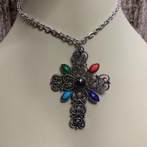 Vintage Avon Cross Necklace - Christian Gothic